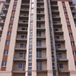 Обустройство фасада десятиэтажного дома