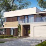 Оформление современного фасада с практичной плоской крышей