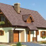 Оформленный фасад с красивой двухскатной крышей