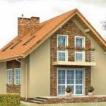 Оформляем красивый фасад с двухскатной крышей