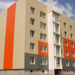 Оранжевые панели для фасада