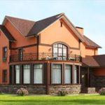 Оранжевый фасад для дома
