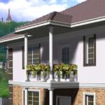 Оригинальный фасад с балконом