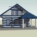 Особенности оформления фасада с трехскатной крышей