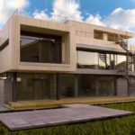 Плоская крыша для оформления современного фасада