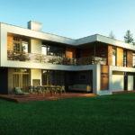 Плоская крыша для создания современного фасада