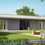 Плоская крыша создает красивый фасад дома