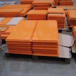 Практичные оранжевые фасадные панели