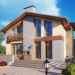 Практичный фасад с двухскатной крышей