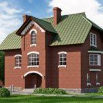 Практичный фасад трехэтажного дома