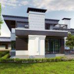 Пример фасада с практичной террасой