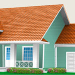 Пример фасада в бирюзовом цвете