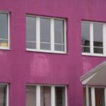 Пример оформления фиолетового фасада