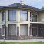 Пример оформления серого фасада