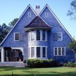 Пример синего красивого фасада