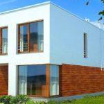 Пример современного фасада с практичной плоской крышей