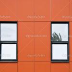 Пример современного оранжевого фасада