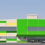 Пример создания красивого фасада с зелеными панелями