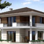 Пример внешнего вида фасада с балконом