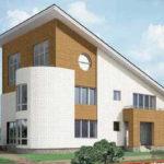 Привлекательный фасад с односкатной крышей