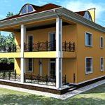 Привлекательный фасад с террасой