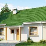 Проект фасада частного дома с двухскатной крышей