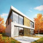 Проект фасада квадратной формы