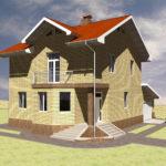 Проект фасада с балконом