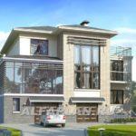 Проект фасада с большими окнами