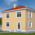 Проект квадратного фасада