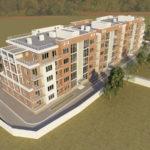 Проект современного фасада пятиэтажного дома