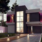 Проект современного фасада с красивой панорамой