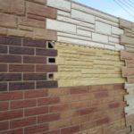 Разнообразие фасадных панелей коричневого цвета