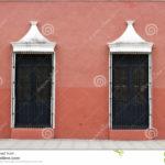 Розовый цвет фасада