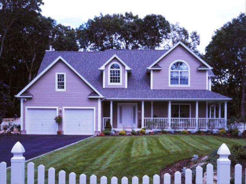 Шикарный фиолетовый дом