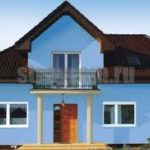 Нежный голубой фасад для дома