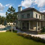 Серый фасад современного дома
