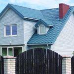 Современные панели фасадного типа в голубом цвете