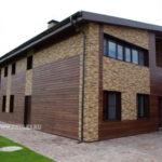 Современный деревянный фасад