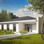 Современный фасад, созданный с панорамой