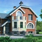 Современный фасад трехэтажных домов
