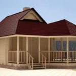Современный красивый фасад с трехскатной крышей