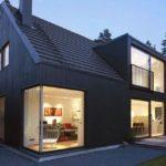 Стильный оригинальный фасад с большими окнами
