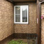 Цокольные панели для фасада в коричневом цвете