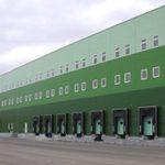 Темные зеленые панели для фасада