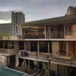 Трехэтажный дом с красивым фасадом