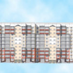 Вариант фасада десятиэтажного дома