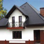 Вариант коричневого красивого фасада
