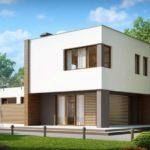 Вариант красивого фасада с плоской крышей