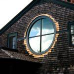 Вариант оформления фасада с круглыми окнами
